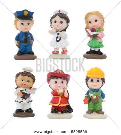 Cute Figures In Different Work Attire