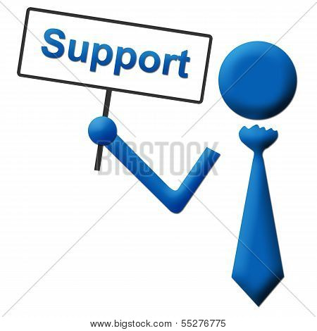 Support Signboard Blue