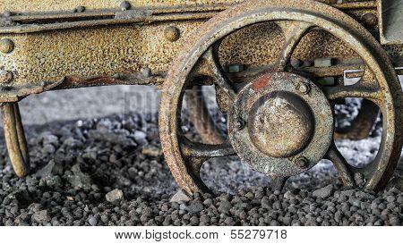 Derailed Mine Carriage Wheel,  Ground To A Halt