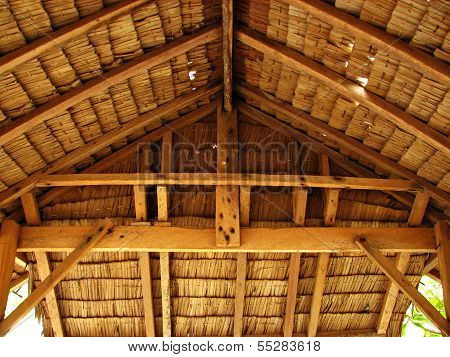 Thatch Tropical Hut Cottage Interior