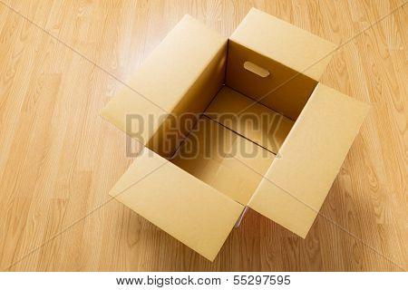 Box on floor