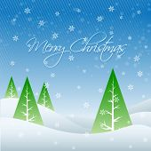 vector seasonal winter merry christmas greeting poster