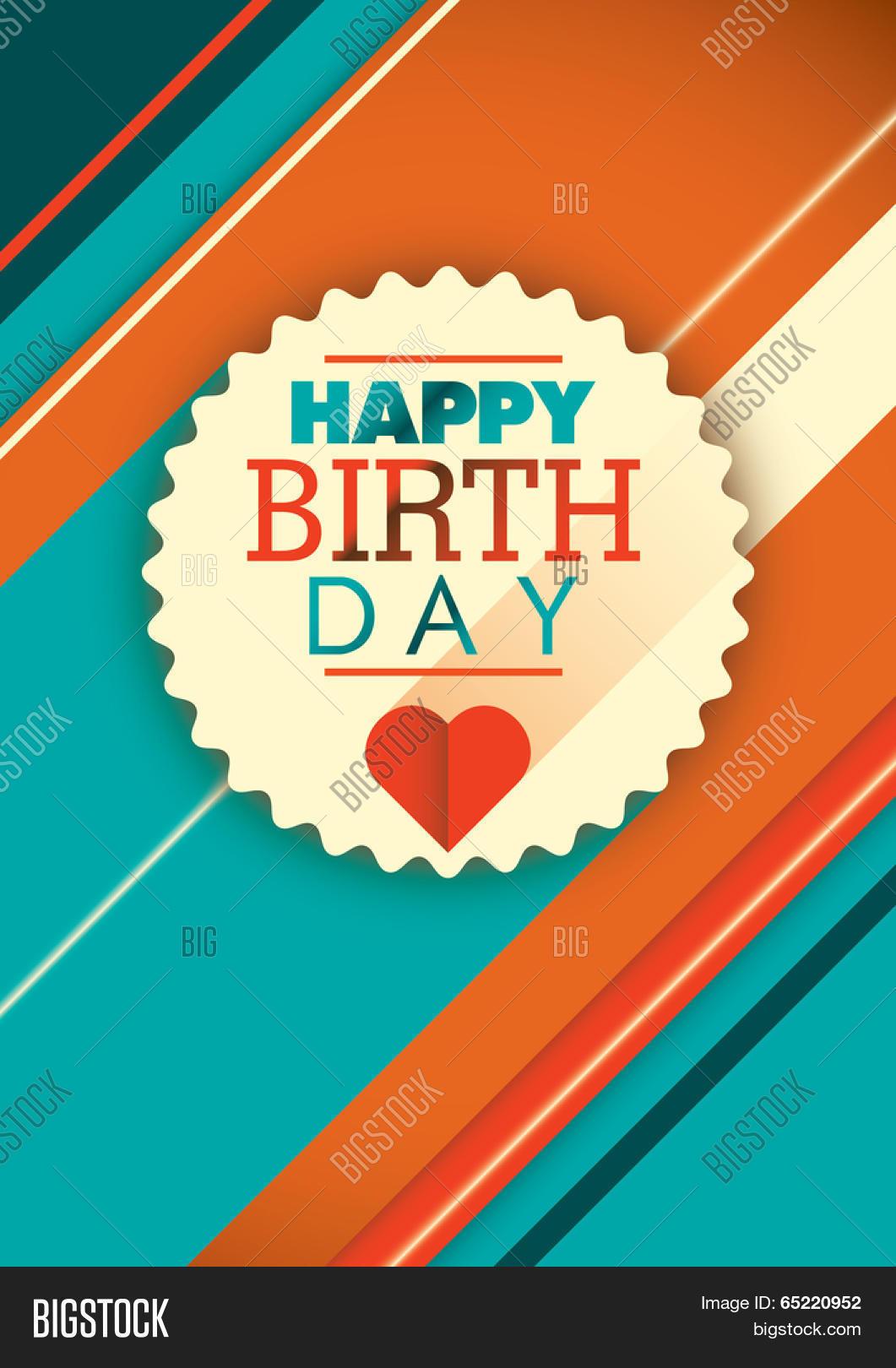 modern happy birthday vector  photo free trial  bigstock
