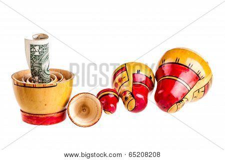 Dollar Within Matryoshka Dolls