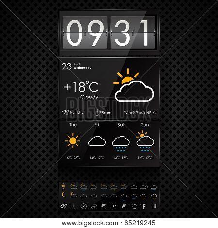Vector weather widgets template
