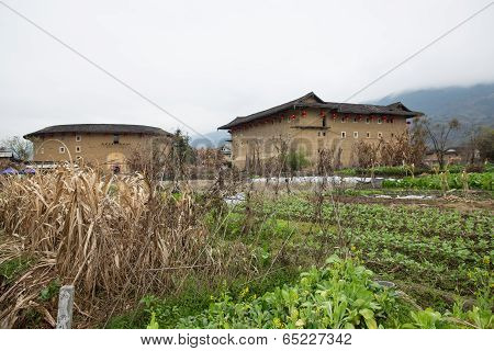 Hakka Tulou Located In Fujian, China