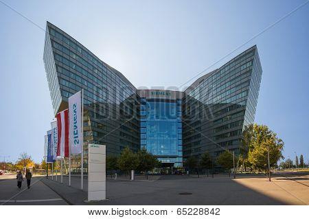 Vienna, Austria - October 3:  Main Building Of Siemens Ag Austrian Company Headquarters. Siemens Cit