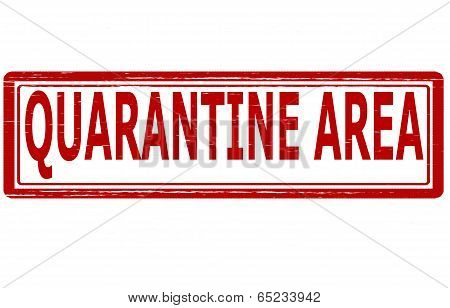 Stamp with text quarantine area inside vector illustration
