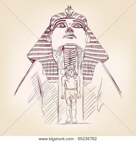 Tutankhamun Egyptian Pharaoh  vector llustration