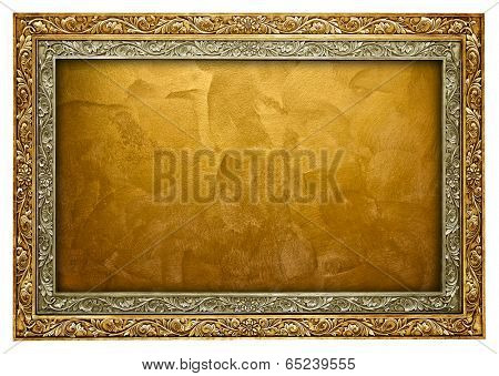 golden paint with frame