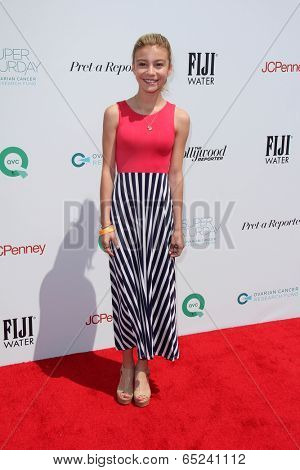 LOS ANGELES - MAY 17:  G Hannelius at the Ovarian Cancer Research Funds Inaugural Super Saturday LA at Barker Hanger on May 17, 2014 in Santa Monica, CA