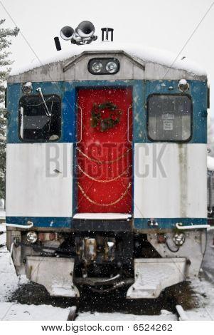 Train with red door