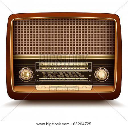 Radio retro, realistic vector illustration.