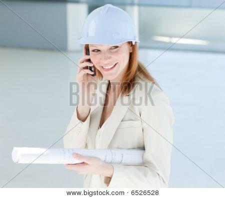 Attractive Engineer On Phone