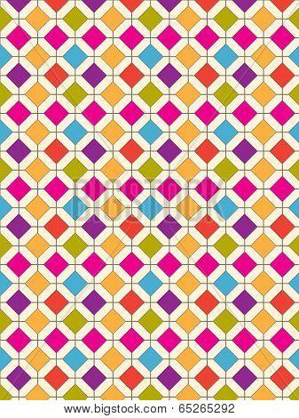 Diamond Pattern Retro Bright