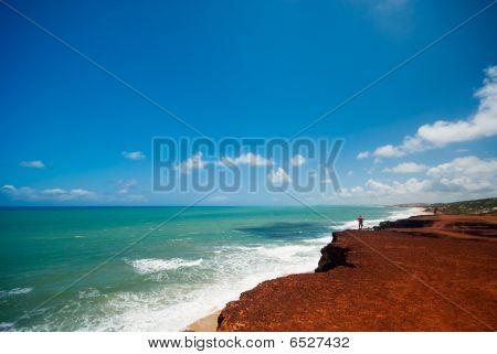 Cliffs And Beach At Praia Das Minas