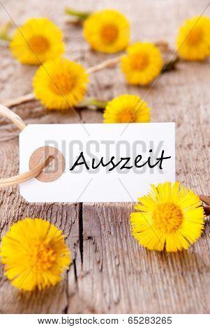 Banner With Auszeit