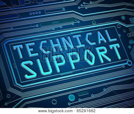 Technical Support Concept.