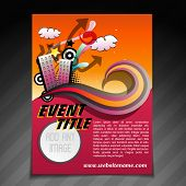 vector event brochure flyer template illustration poster