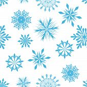 Seamless snowflakes background for winter and christmas theme poster