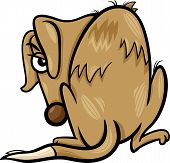 Cartoon Vector Illustration of Poor Homeless Dog poster