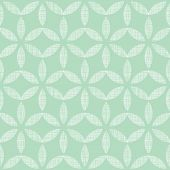vector abstract textile mint green leaves geometric seamless pattern background poster