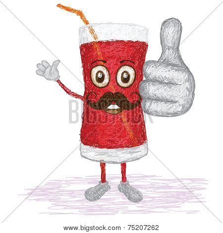 Strawberry Juice Mustache