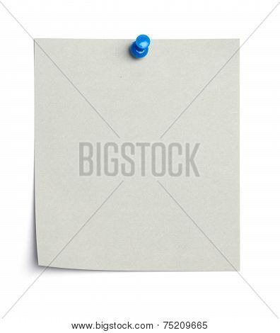 Empty Piece Of Paper With Thumb Tack