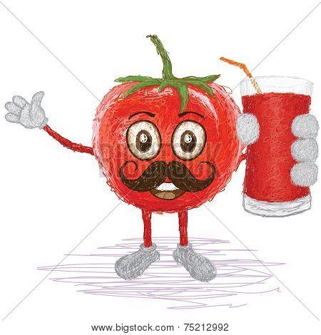 Tomato Fruit Mustache