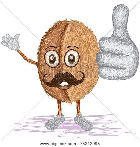 Walnut Mustache