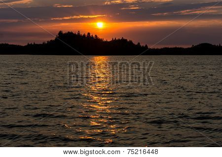Sunrise Over Brule Lake