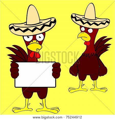 mexican chicken mariachi set