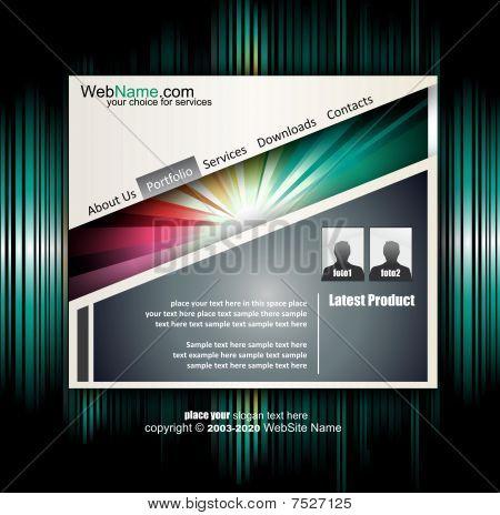 Modern Sanat WebDesign şablonu özgün tasarım öğeleri ve renk