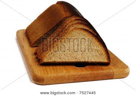 Rye Bread On A Breadboard