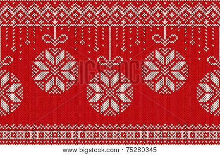 Winter Holiday Seamless Knitting Pattern. Christmas And New Year Vector Seamless Background