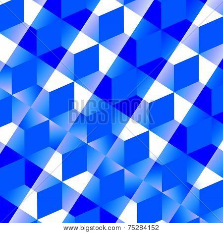 Blue Abstract Mesh Background - Monochrome