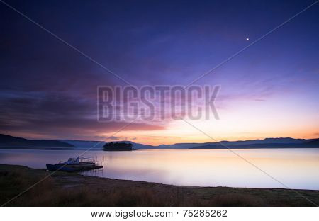 Boat At The Sunrise