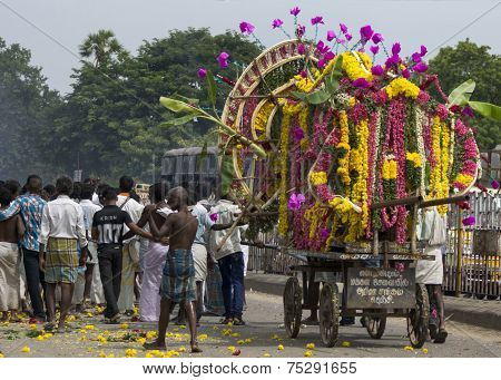 Funeral Procession In Gingee, Tamil Nadu.