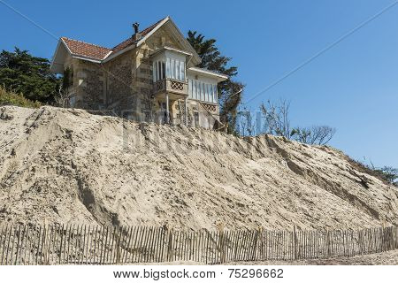 House Erosion At Beach