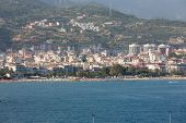 Alanya - the beach of Aladdin . Alanya is one of most popular seaside resorts in Turkey poster