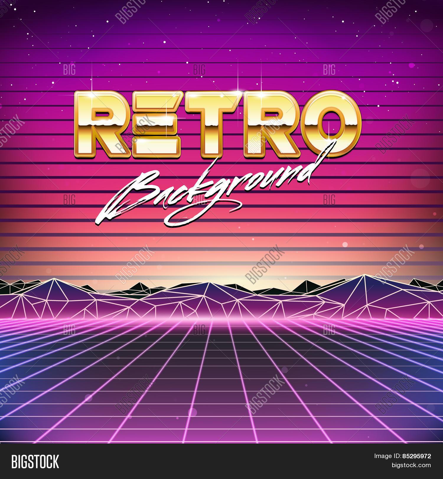 80s Retro Sci-Fi Vector & Photo (Free Trial)   Bigstock