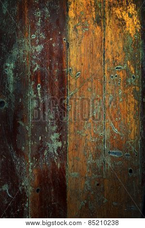 Closeup of old wood planks texture background