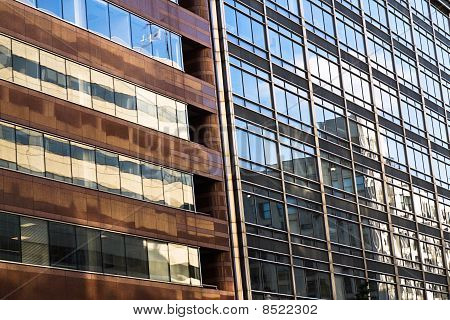 Modern Office Buildings With Reflection