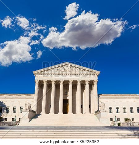 Supreme Court of United states building in Washington DC