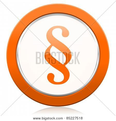 paragraph orange icon law sign  poster