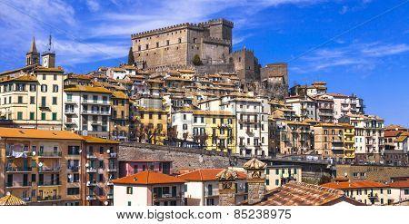 Soriano nel cimino - authentic medieval town in Lazio, Italy poster