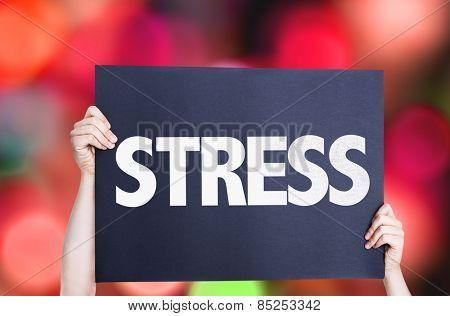 Stress card with bokeh background