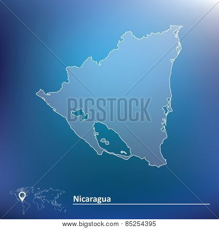 Map of Nicaragua - vector illustration