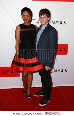 LOS ANGELES - MAR 12:  Sharon Leal, Paul Becker at the