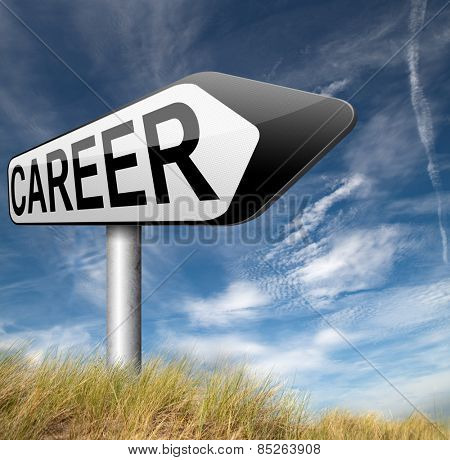 new career move make a change plan your careers and go job hunting follow a new path poster